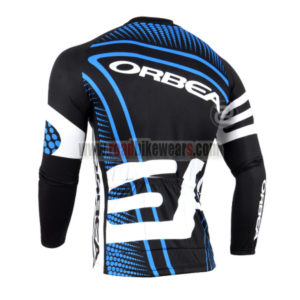 2014 Team ORBEA Cycle Jersey Long Sleeve Black Blue