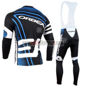 2014 Team ORBEA Riding Long Bib Suit Black Blue