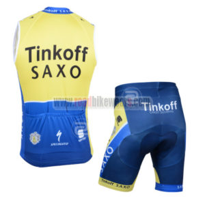 2014 Team SAXO BANK Cycling Tank Top Kit