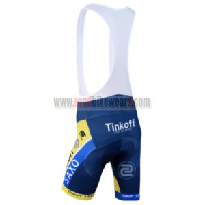 2014 Team SAXO BANK Riding Bib Shorts Yellow Blue