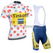 2014 Team SAXO BANK Tour de France Cycling Bib Kit Polka Dot