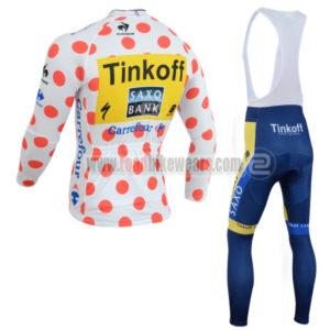 2014 Team SAXO BANK Tour de France Riding Long Bib Kit Polka Dot