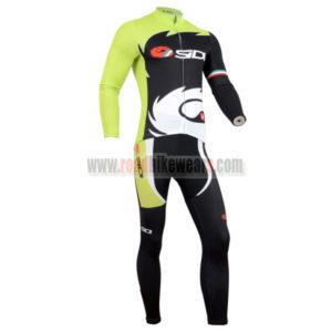 2014 Team SIDI Bicycle Long Kit Green Black
