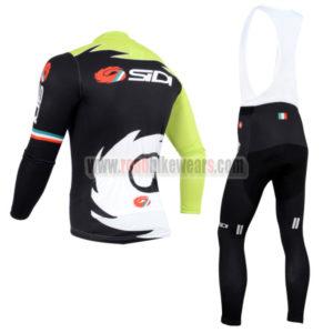 2014 Team SIDI Cycling Long Bib Kit Green Black