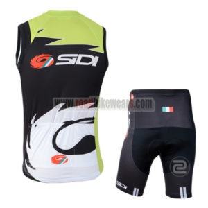 2014 Team SIDI Pro Biking Vest Kit Green Black