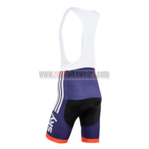 2014 Team SKY Riding Bib Shorts Blue Red