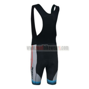 2014 Team TREK Riding Bib Shorts Grey Blue Red