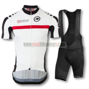 2015 Team ASSOS Riding Bib Kit White Red