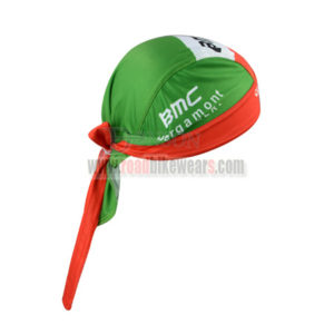 2015 Team BMC Riding Bandana Head Scarf Green Red