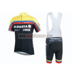 2015 Team COLOMBIA Cycling Bib Kit Black