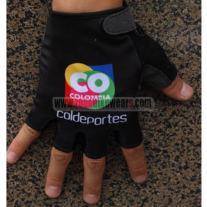 2015 Team COLOMBIA Cycling Gloves Mitts Black