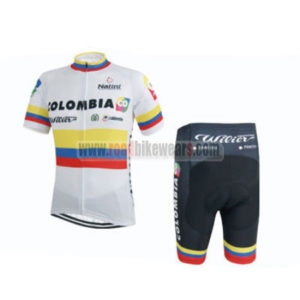2015 Team COLOMBIA Cycling Kit White
