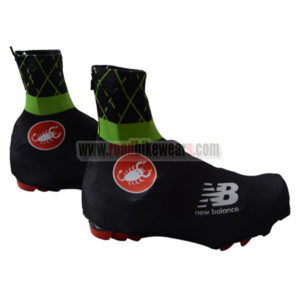 2015 Team Castelli Biking Shoes Covers Black Green