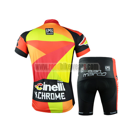 2015 Team Cinelli CHROME Riding Outfit Cycle Jersey and Padded ... 93a3dd9d5