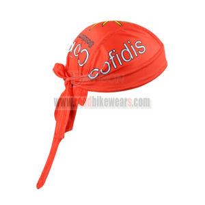 2015 Team Cofidis Riding Bandana Head Scarf Red