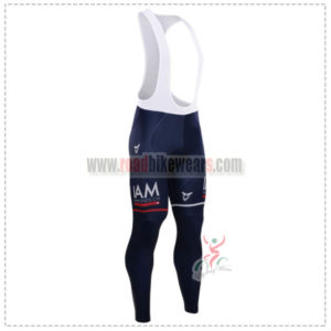 2015 Team IAM SCOTT Cycling Long Bib Pants Tights Blue