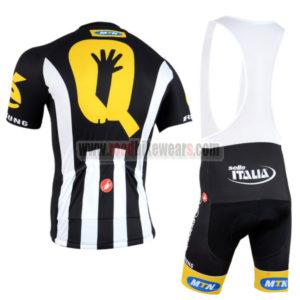 2015 Team MTN Riding Bib Kit Black White