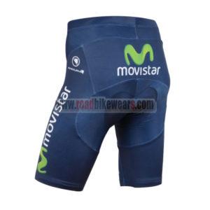 2015 Team Movistar Biking Shorts Blue