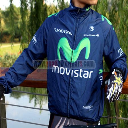 683aefc8d 2015 Team Movistar Riding Gear Biking Raincoat Windbreaker Ultra ...