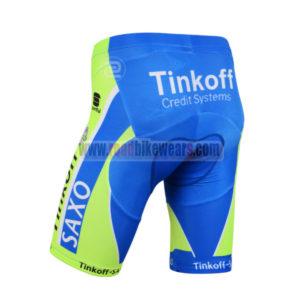 2015 Team SAXO BANK Bicycle Shorts Green Blue