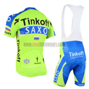 2015 Team SAXO BANK Bike Riding Wear Cycle Jersey and Padded Bib Shorts  Roupas Bicicleta Green Blue ab2299378