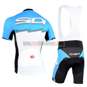 2015 Team SIDI Riding Bib Kit Blue White