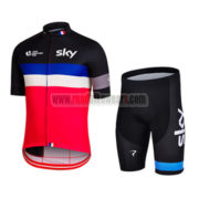 2015 Team SKY Rapha Cycling Kit Black Blue Red