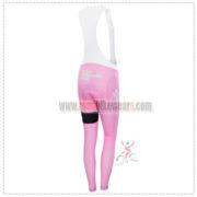 2015 Team SKY Women's Biking Long Bib Pants Pink