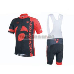 2015 Team TREK BONTRAGER Cycling Bib Kit Black Red