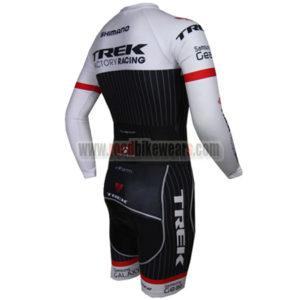 2015 Team TREK Long Sleeves Triathlon Racing Uniform Skinsuit White Black