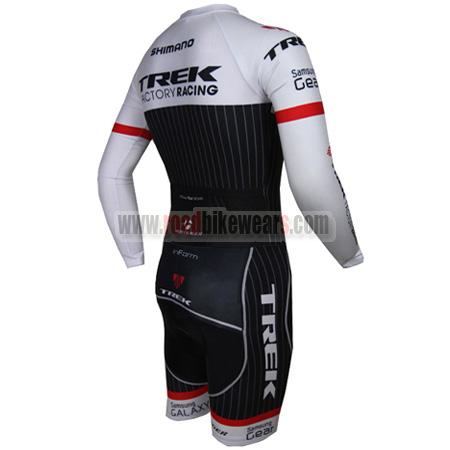 2015 Team TREK Long Sleeves Triathlon Racing Uniform Skinsuit White Black 0f804b1b4