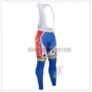 2015 Team Tinkoff SAXO BANK Cycling Bib Pants Blue Red