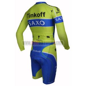 2015 Team Tinkoff SAXO BANK Long Sleeves Triathlon Racing Clothing Skinsuit Green Blue
