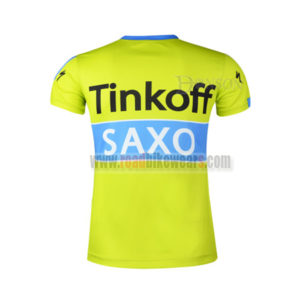 2015 Team Tinkoff SAXO BANK Outdoor Sport Apparel Cycling T-shirt Yellow