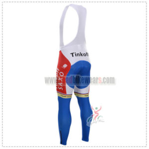 2015 Team Tinkoff SAXO BANK Riding Bib Pants Blue Red