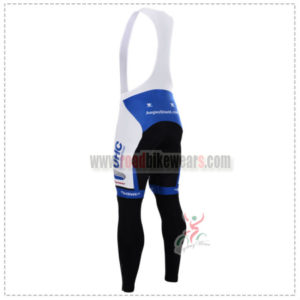 2015 Team UHC Riding Long Bib Pants White Blue