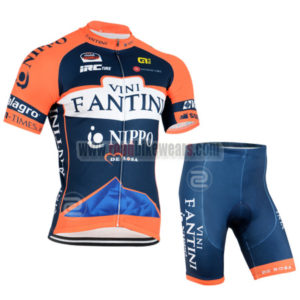 2015 Team VINI FANTINI NIPPO Cycling Kit Blue Orange