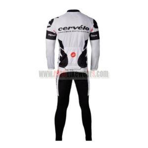 2010 Team Cervelo 3T Riding Long Suit White