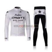 2010 Team Mellow Johnny's Cycling Long Kit White