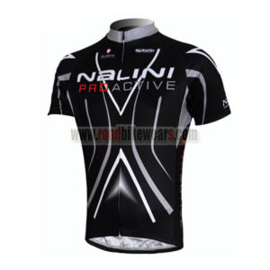 2010 Team Nalini Pro Active Riding Maillot Jersey Shirt Black