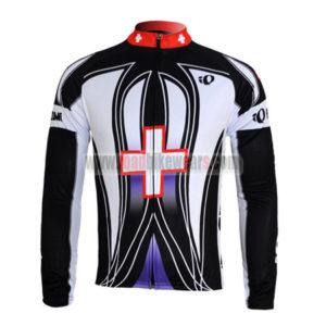 2010 Team Pearl Izumi Cycling Long Sleeve Jersey Black Cross