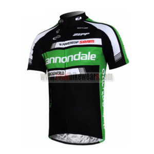 2011 Team Cannondale Riding Maillot Jersey Shirt Black Green