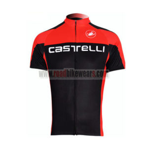 2011 Team Castelli Cycling Maillot Jersey Shirt Red Black