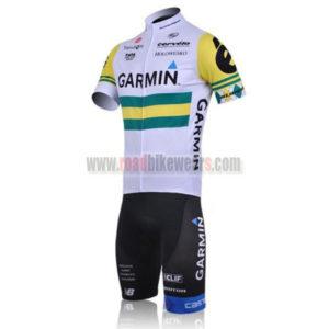 2011 Team GARMIN cervelo Bicycle Short Kit White Yellow