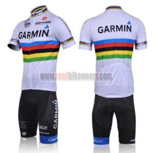 2011 Team GARMIN cervelo UCI Cycle Short Kit White