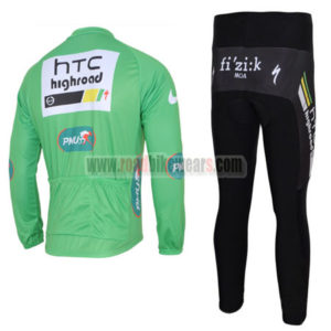 2011 Team HTC Highroad Cycle Long Kit Green