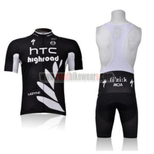 0b3bee1bf 2011 Team HTC Highroad Cycling Bib Kit Black