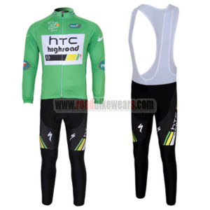 6cb403240 2011 Team HTC Highroad Cycling Long Bib Kit Green ...