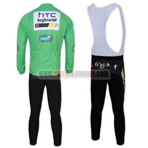 2011 Team HTC Highroad Riding Long Bib Kit Green