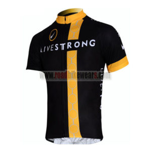 2011 Team LIVESTRONG Bicycle Maillot Jersey Shirt Black Yellow White